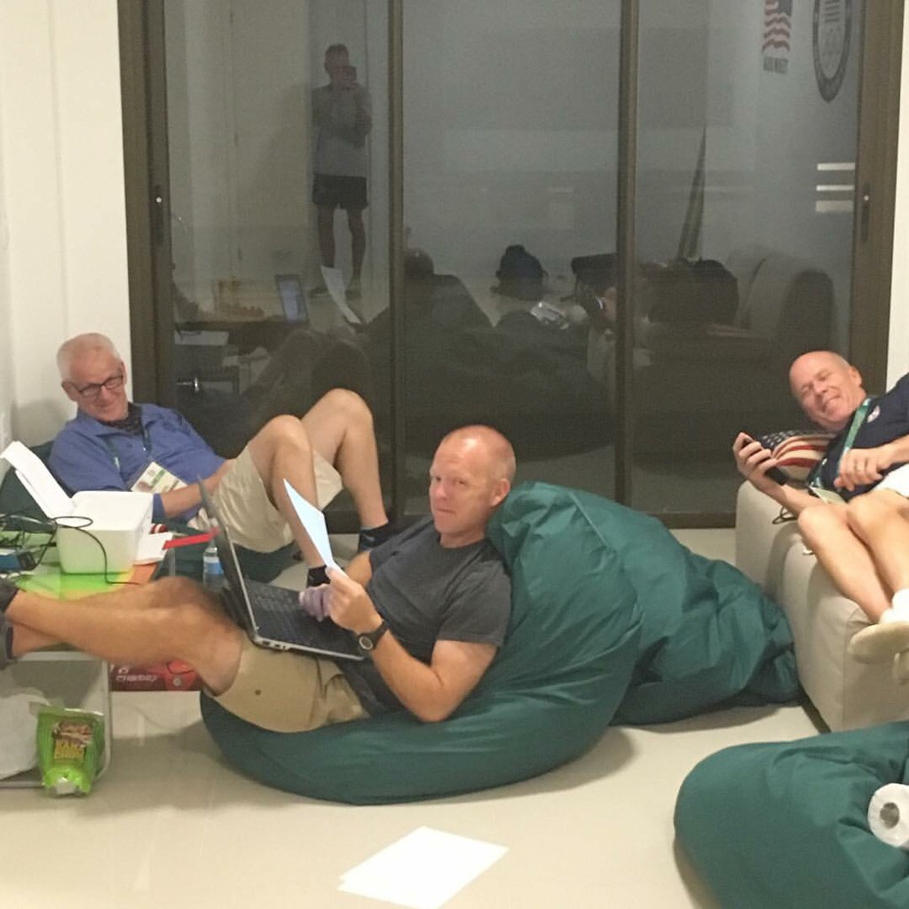 U.S. Olympic coaches at dorm in Olympic village