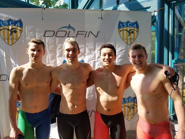 Marlin's record-setting 200 & 400 medley relays (G. D'Alessandro, C. Kent, L. Wang, B. Gryski)