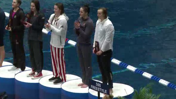 Katie Ledecky wins 500 free